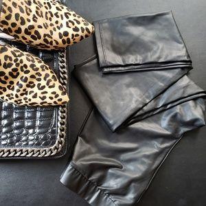 ac4326a09b00a8 Calzedonia Pants   Calcedonia Leather Effect Leggings   Poshmark